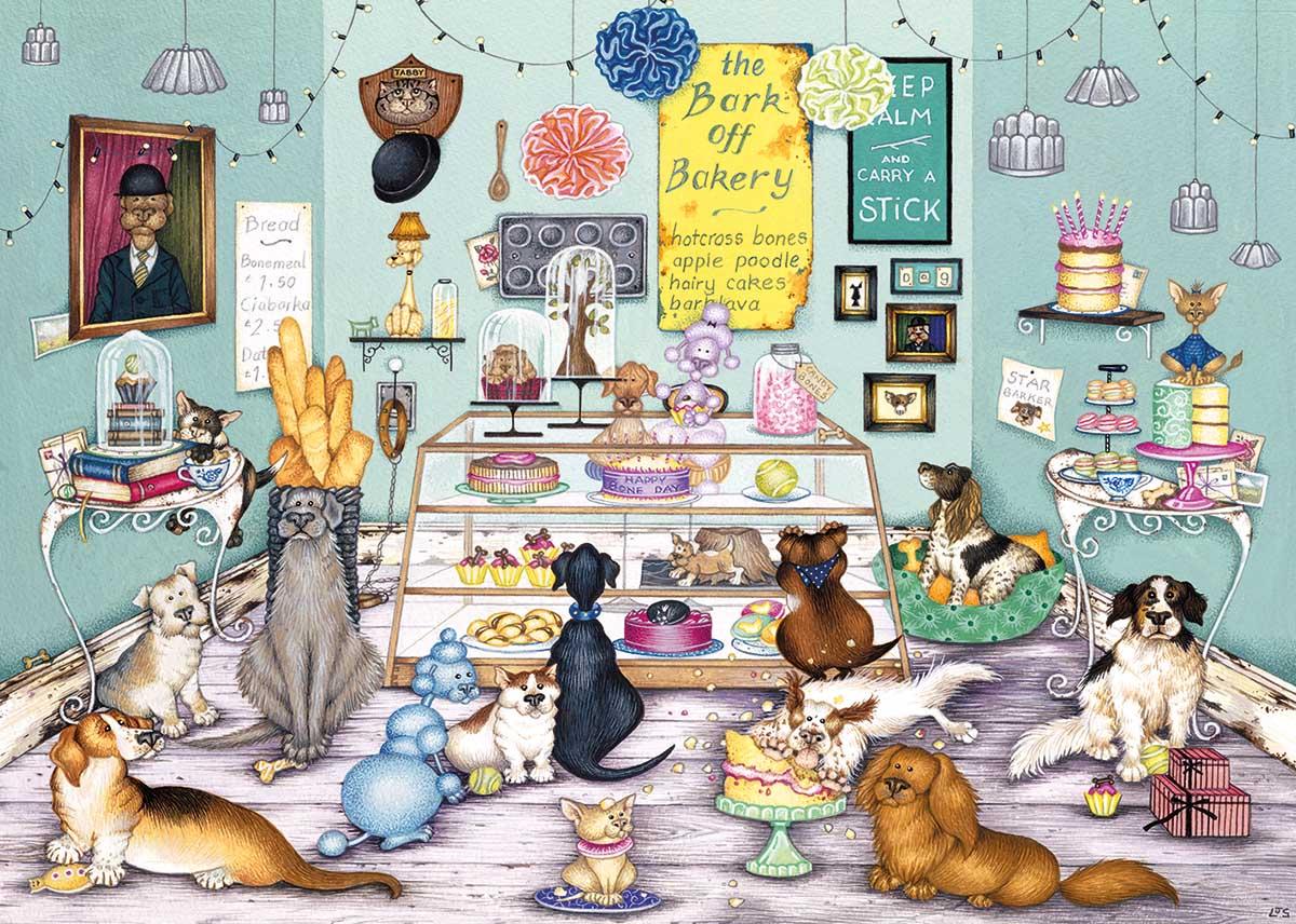 Bark Off Bakery Dogs Jigsaw Puzzle