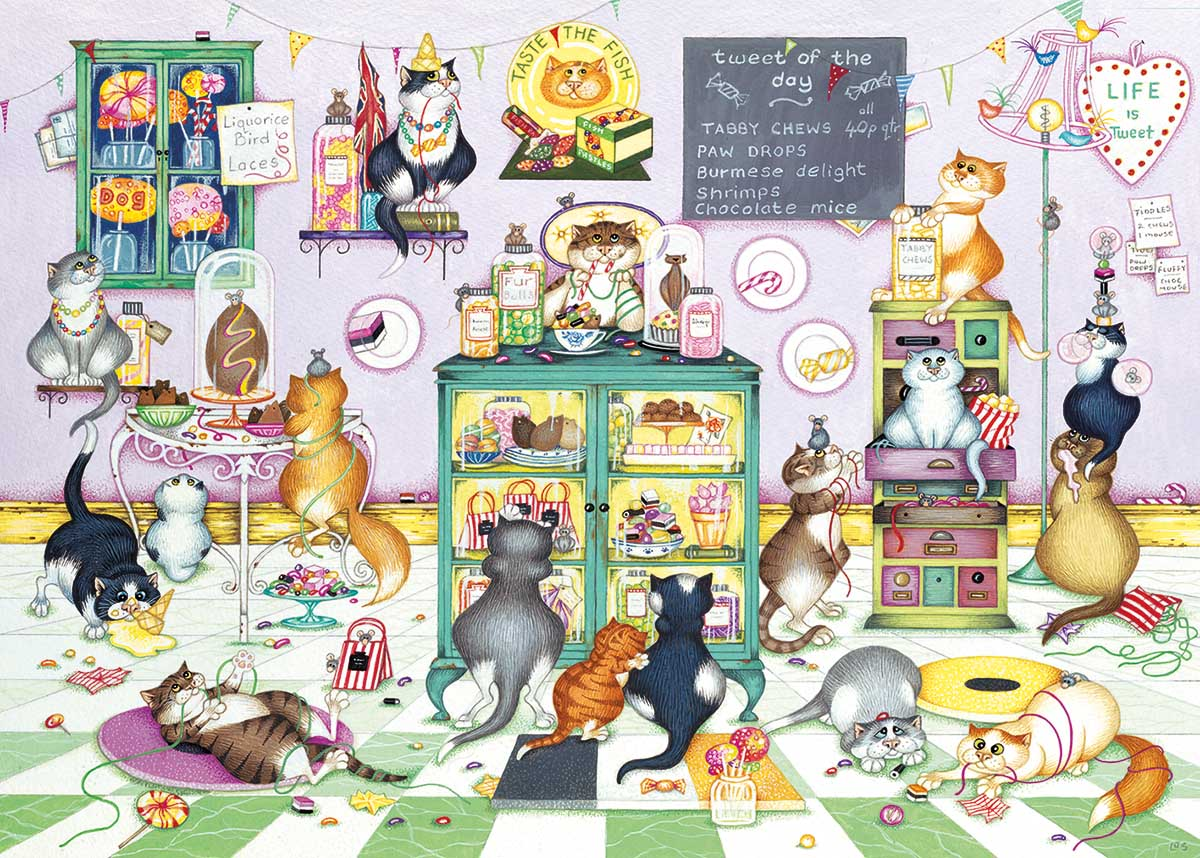 Life is Sweet Cats Jigsaw Puzzle