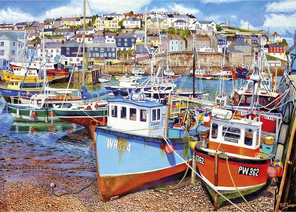 Mevagissey Harbour Boats Jigsaw Puzzle