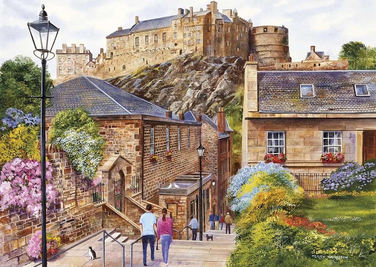 Edinburgh - The Vennel Travel Jigsaw Puzzle