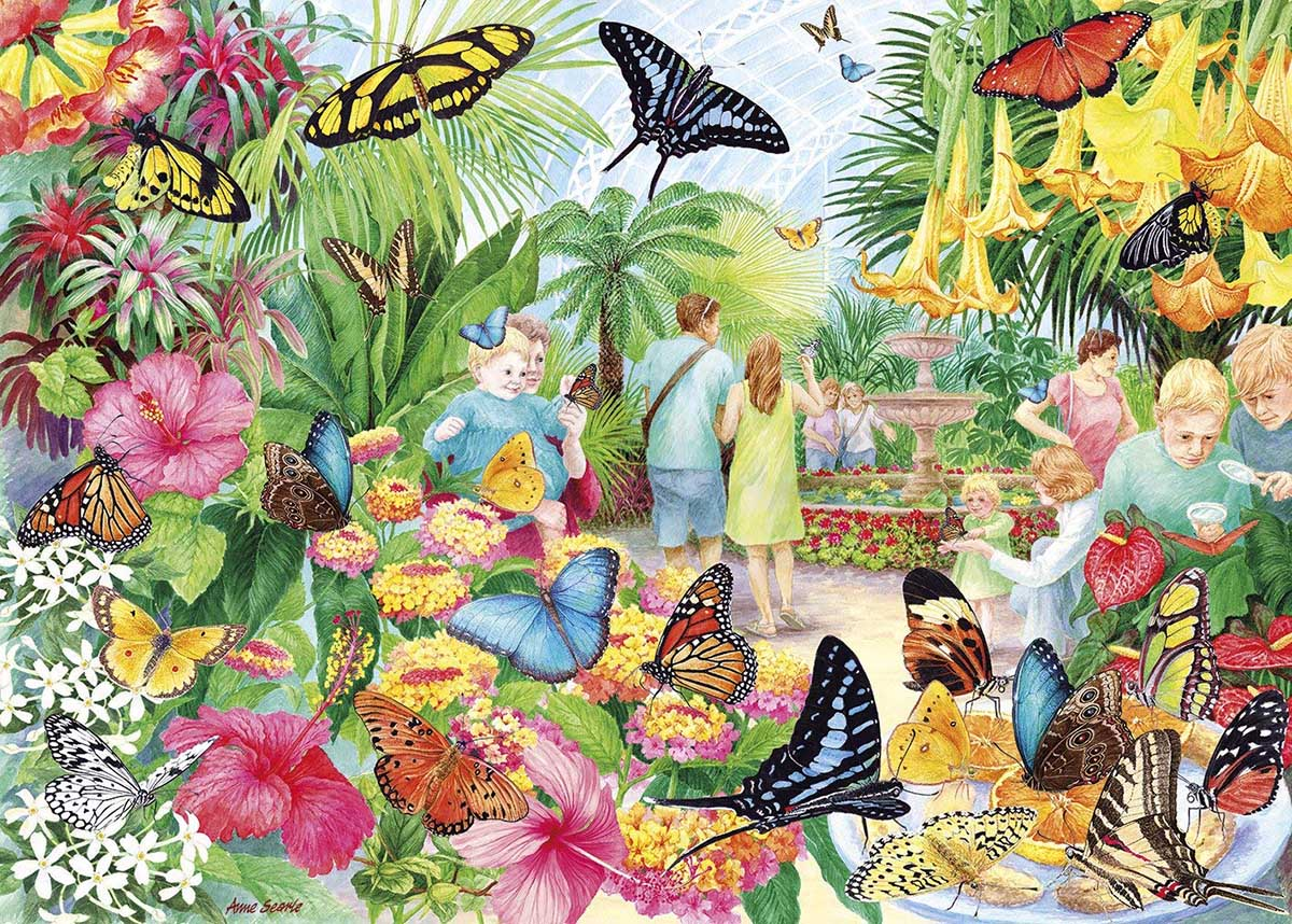 Butterfly House Butterflies and Insects Jigsaw Puzzle