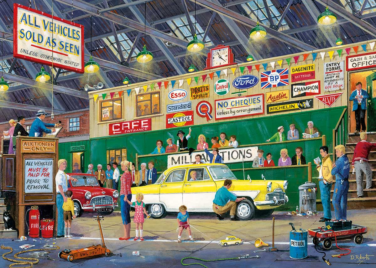 Going Once, Going Twice - Scratch and Dent Cars Jigsaw Puzzle