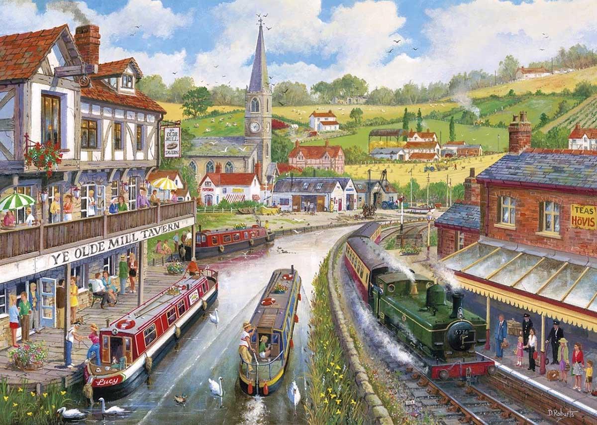 Ye Olde Mill Tavern Trains Jigsaw Puzzle
