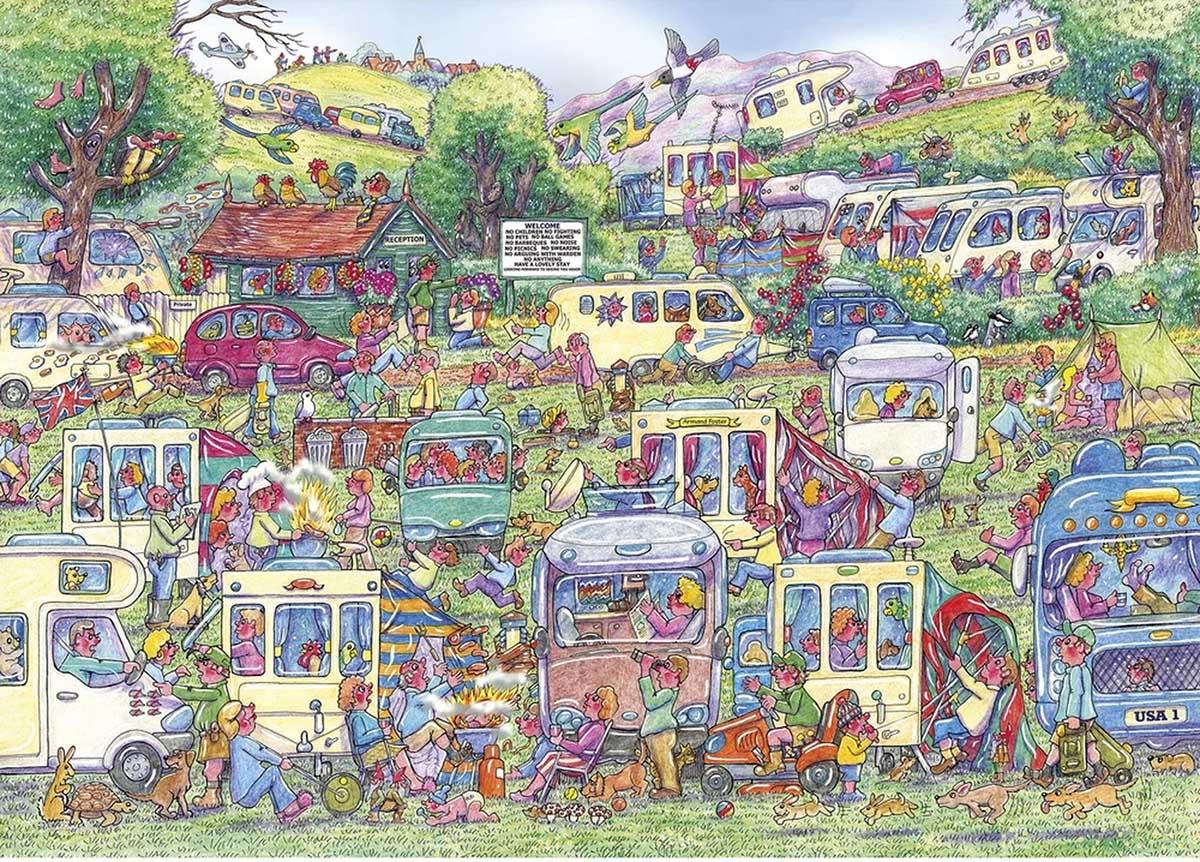 Caravan Chaos Cars Jigsaw Puzzle