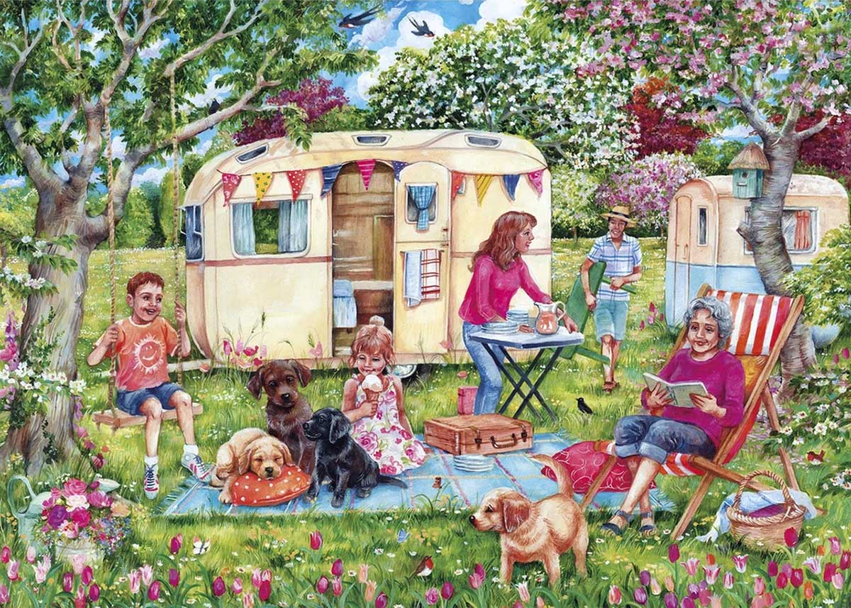 Caravan Escape Summer Jigsaw Puzzle