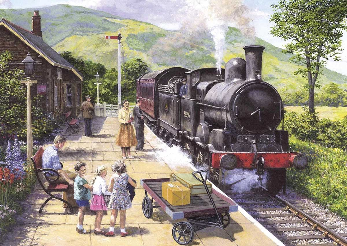 All Aboard to Keswick Trains Jigsaw Puzzle