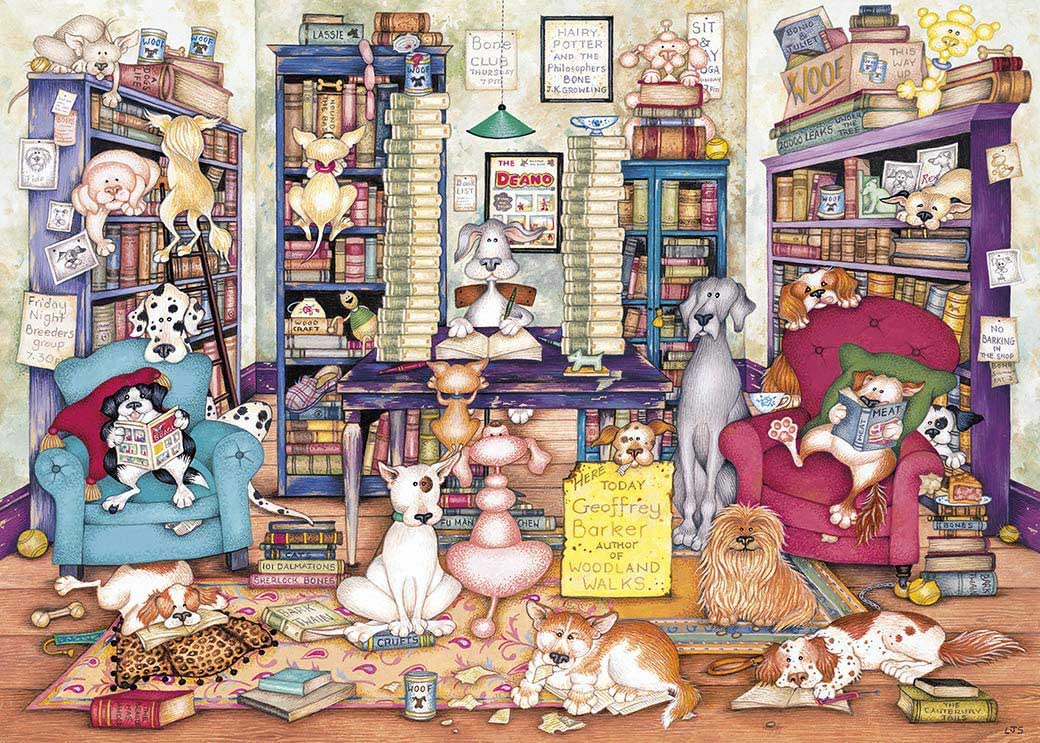 Bark's Books Dogs Jigsaw Puzzle
