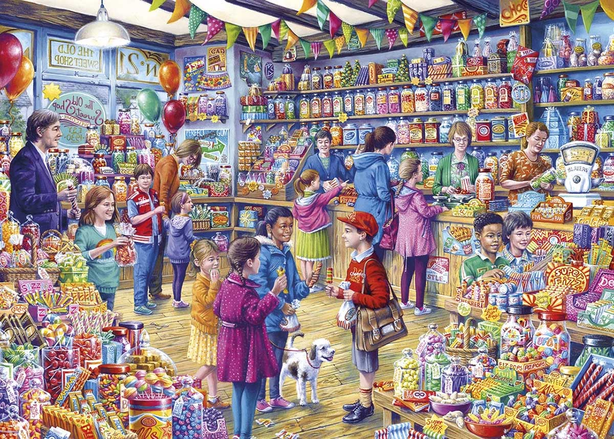 The Old Sweet Shop - Scratch and Dent Nostalgic / Retro Jigsaw Puzzle