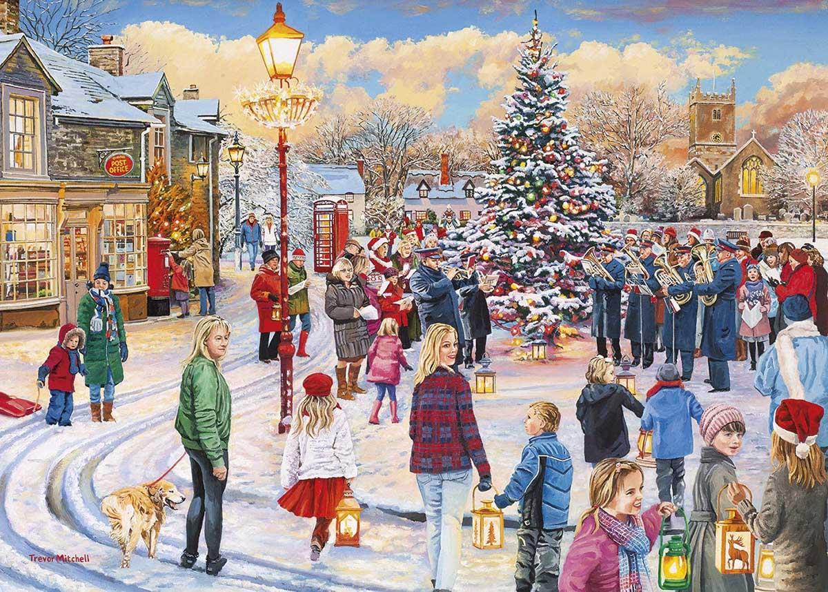 Christmas Chorus People Jigsaw Puzzle
