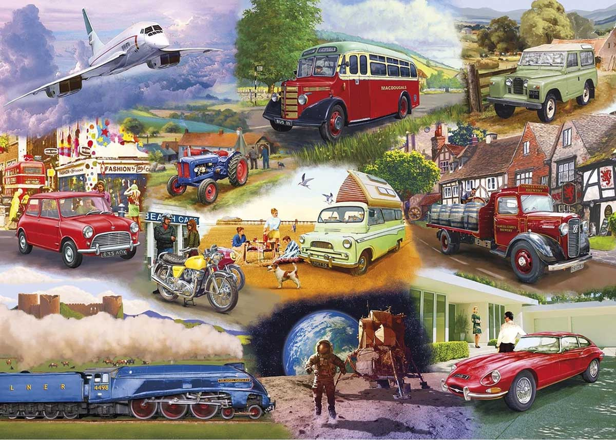 Iconic Engines Planes Jigsaw Puzzle