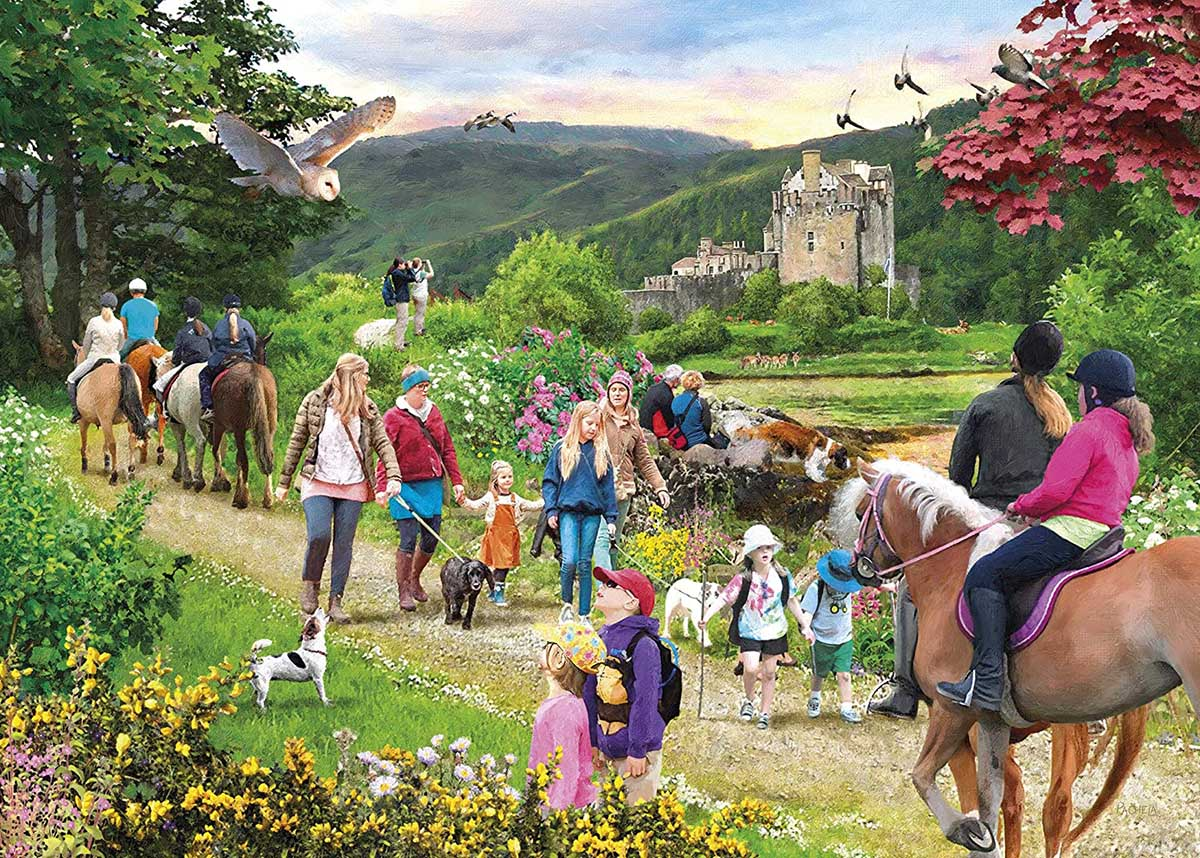 Highland Hike Travel Jigsaw Puzzle