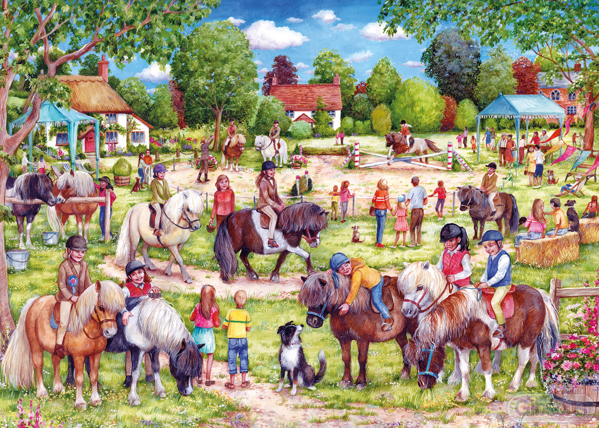 Shetland Pony Club Horses Jigsaw Puzzle