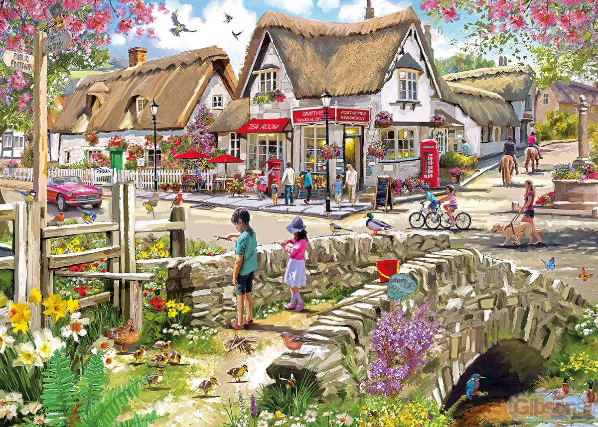 Daffodils & Ducklings People Jigsaw Puzzle