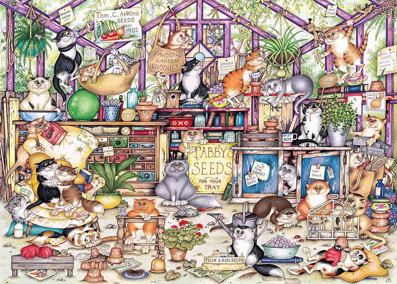 Gerty's Garden Retreat Cats Jigsaw Puzzle