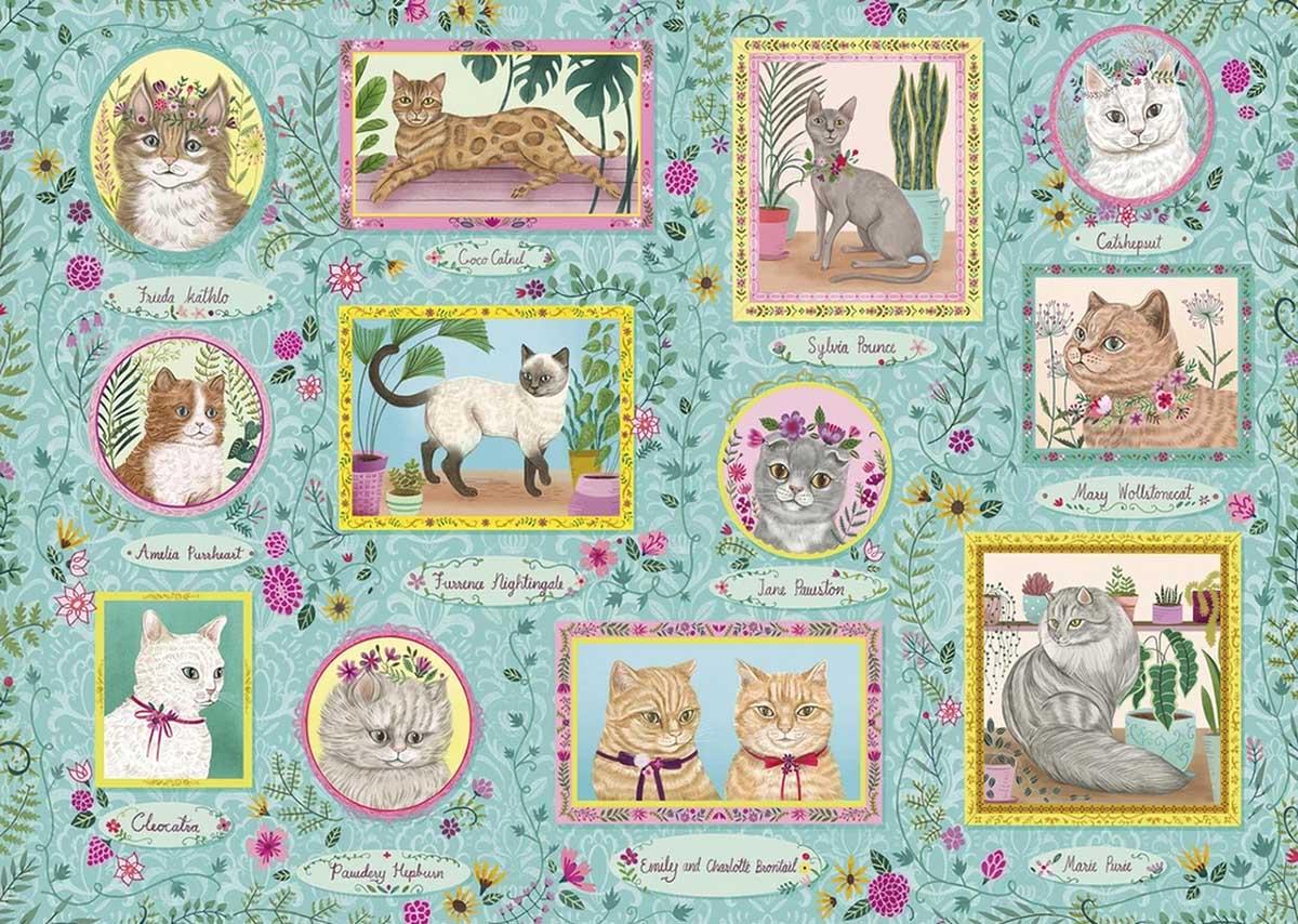 Famous Felines Cats Jigsaw Puzzle