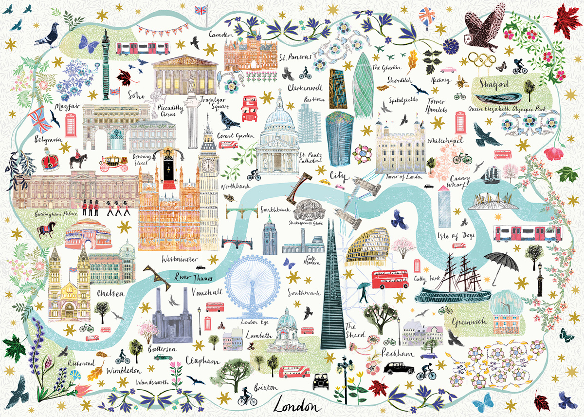 Map of London Maps / Geography Jigsaw Puzzle