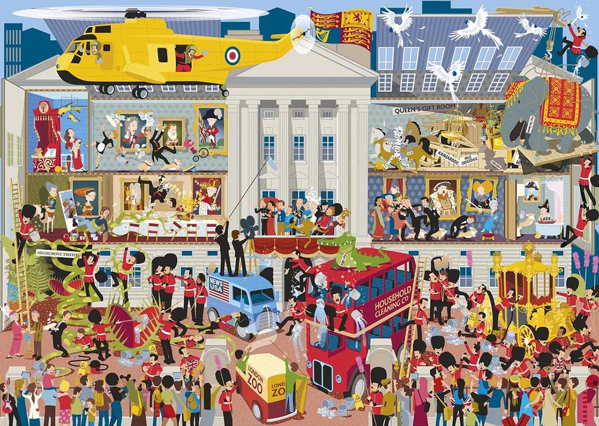 Lifting the Lid - Buckingham Palace Travel Jigsaw Puzzle
