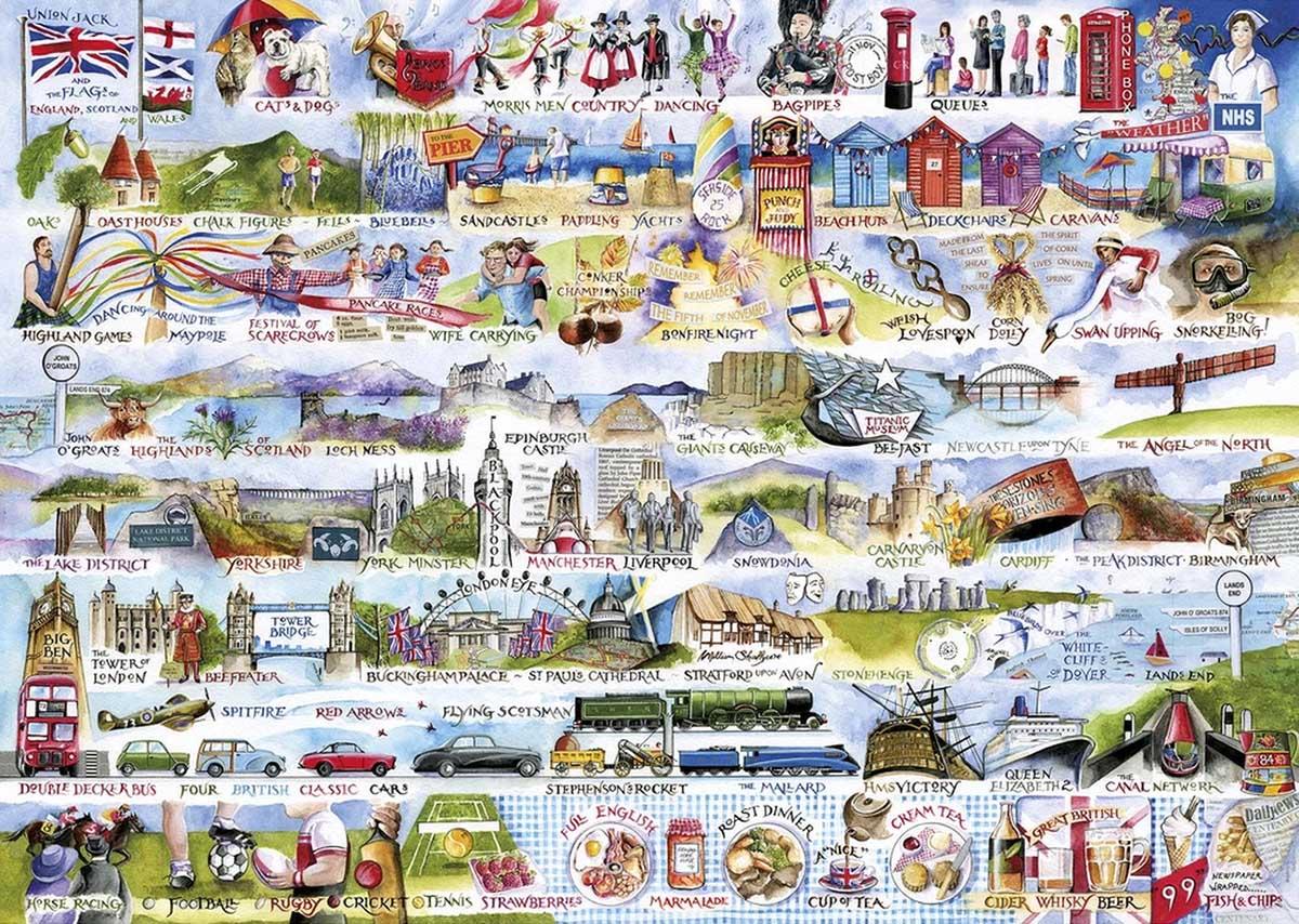 Cream Teas & Queuing Travel Jigsaw Puzzle