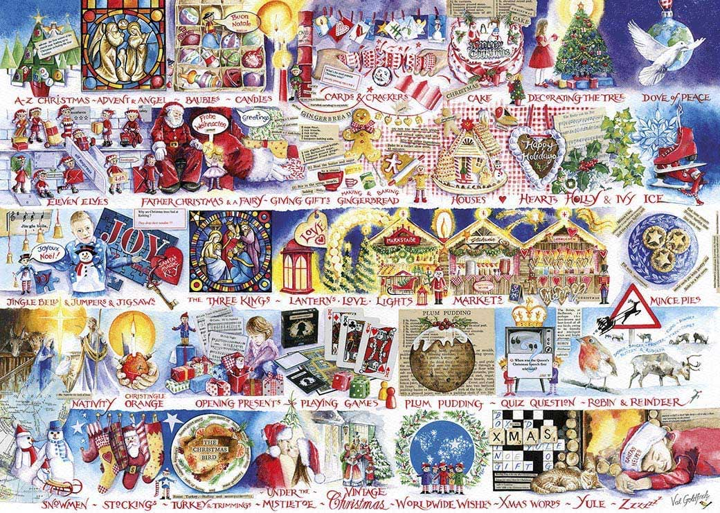 Christmas Alphabet Christmas Jigsaw Puzzle