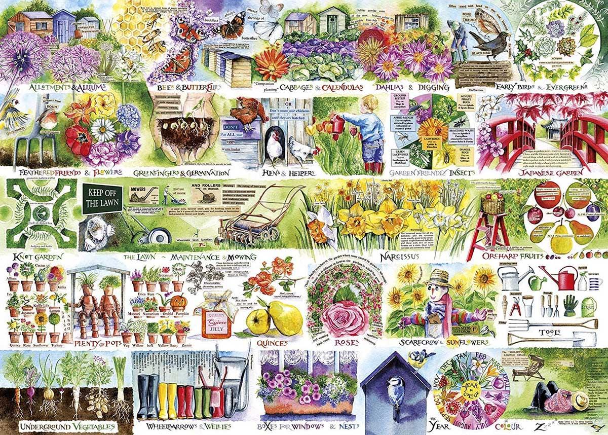 Wheelbarrows & Wellies Flowers Jigsaw Puzzle