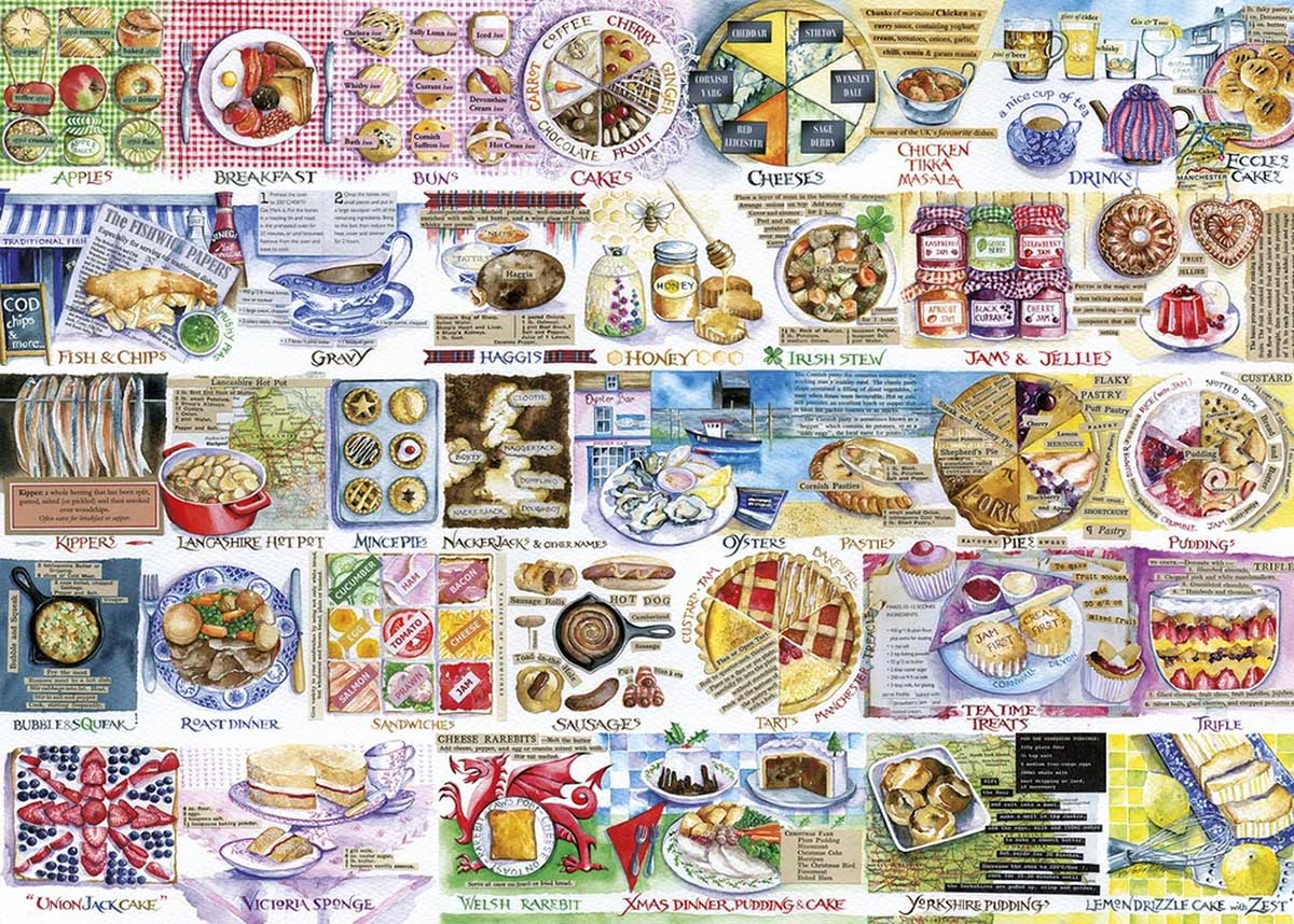 Pork Pies & Puddings Food and Drink Jigsaw Puzzle