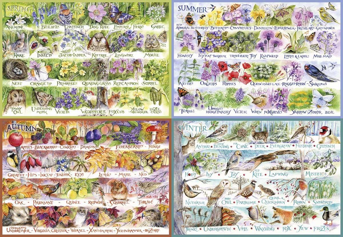 Woodland Seasons Animals Jigsaw Puzzle