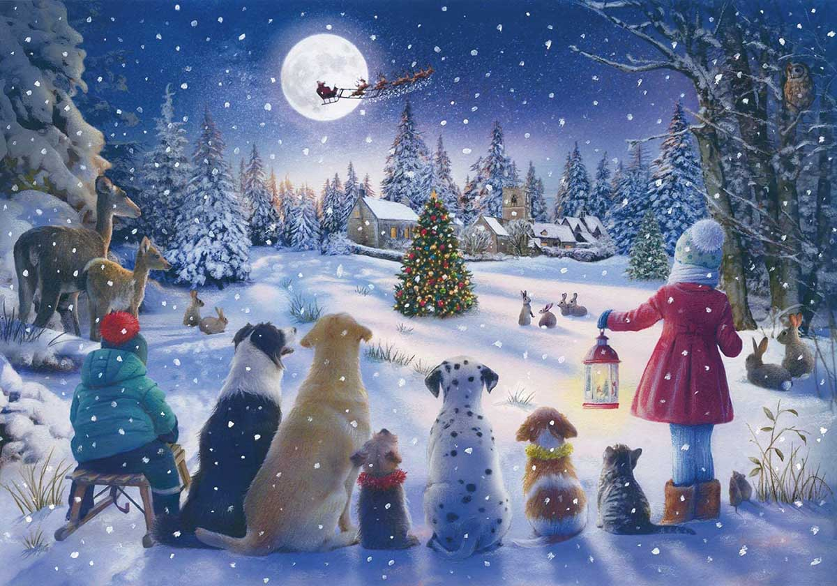 Moonlit Magic Bauble Animals Jigsaw Puzzle