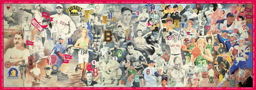 Boston Sports Legends Boston Jigsaw Puzzle