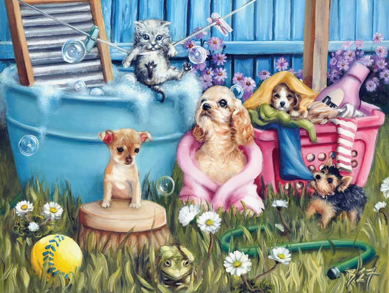 Suds N Pups Dogs Jigsaw Puzzle