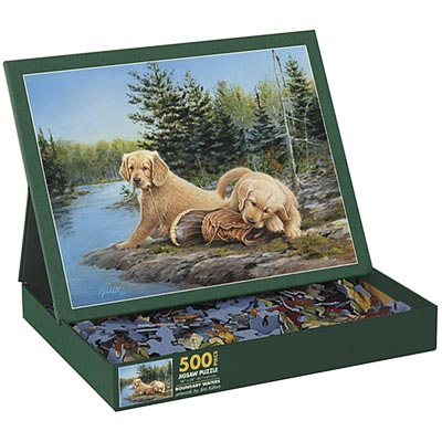 Boundry Waters Dogs Jigsaw Puzzle