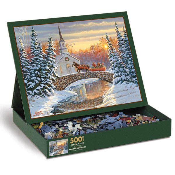 Holiday Sleigh Ride Christmas Jigsaw Puzzle