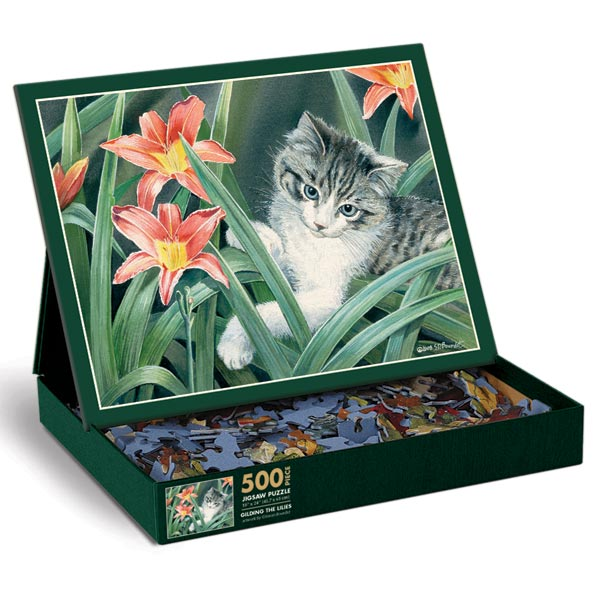 Gilding the Lilies Cats Jigsaw Puzzle