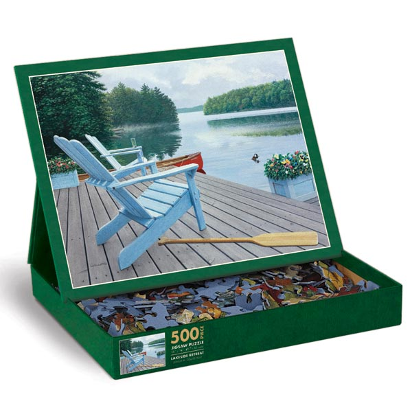Lakeside Retreat Father's Day Jigsaw Puzzle