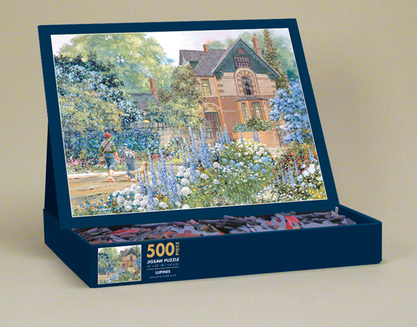 Lupines Garden Jigsaw Puzzle