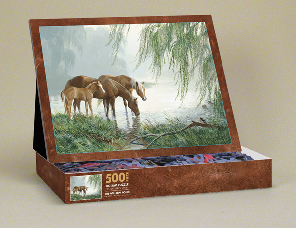 The Willow Pond Horses Jigsaw Puzzle