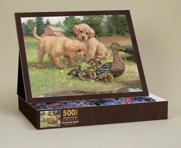 Follow the Leader Dogs Jigsaw Puzzle