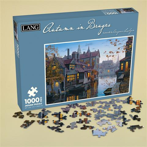 Autumn in Bruges Europe Jigsaw Puzzle