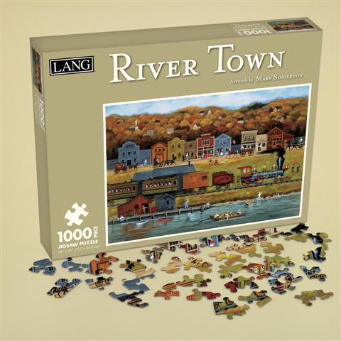 River Town Countryside Jigsaw Puzzle