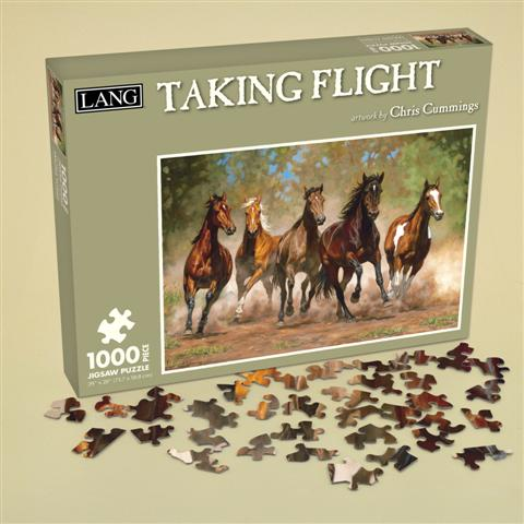 Taking Flight Horses Jigsaw Puzzle