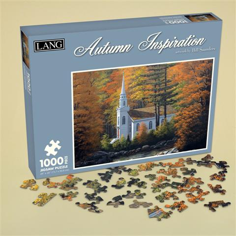 Autumn Inspiration Churches Jigsaw Puzzle