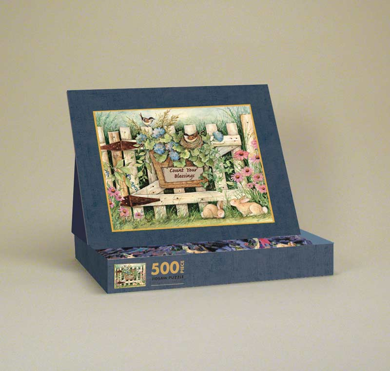 Garden Gate Garden Jigsaw Puzzle