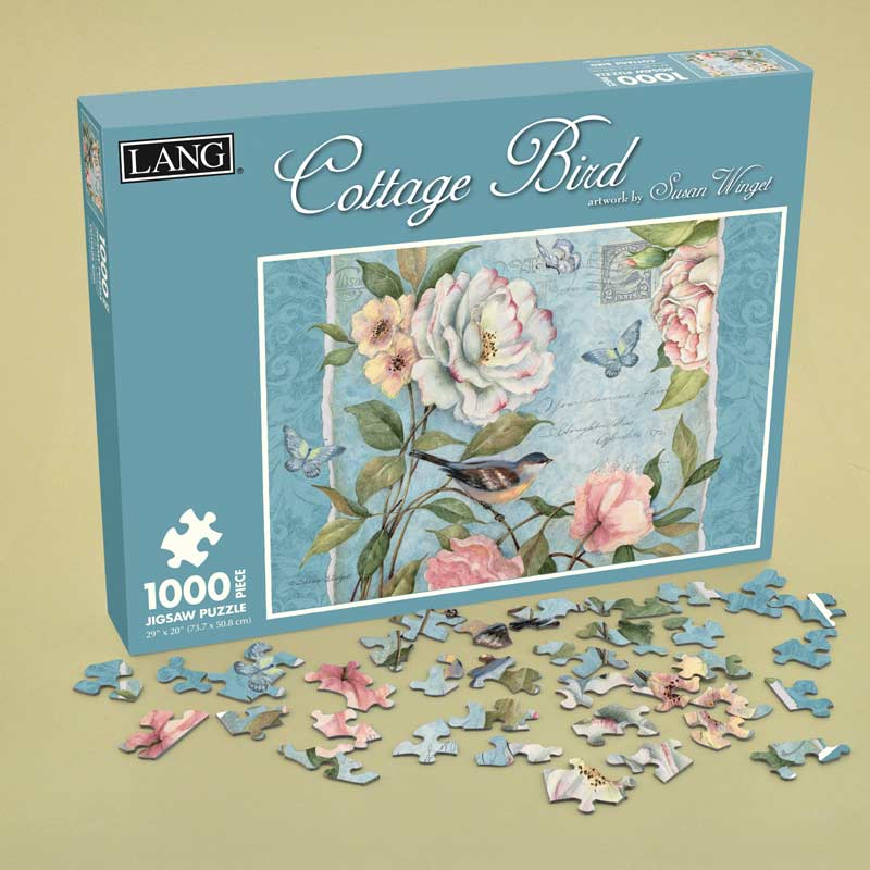 Cottage Bird Butterflies and Insects Jigsaw Puzzle