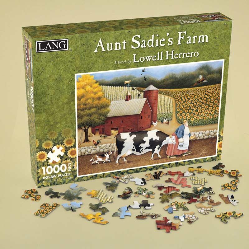Aunt Sadie's Farm Cows Jigsaw Puzzle