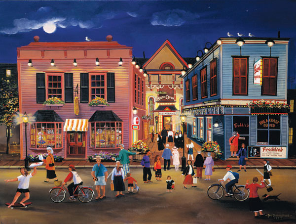 Tourist Town People Jigsaw Puzzle