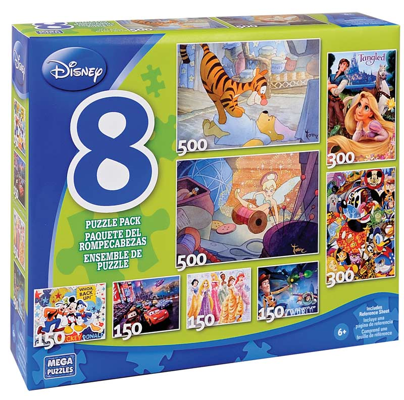 Disney 8-in-1 Puzzle Pack Disney Jigsaw Puzzle