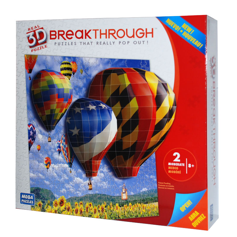Real 3D Breakthrough - Hot Air Balloons Balloons 3D Puzzle