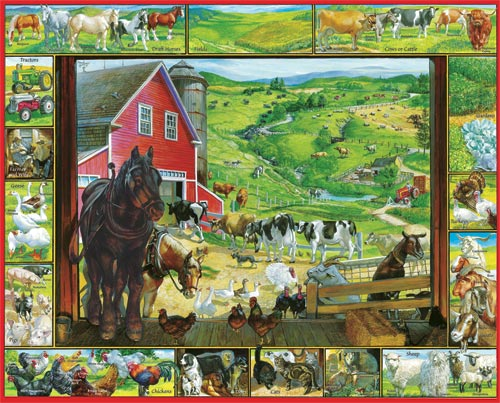 On The Farm Farm Jigsaw Puzzle