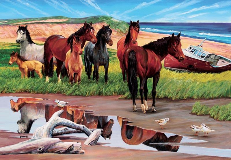 Sable Island Horses Jigsaw Puzzle