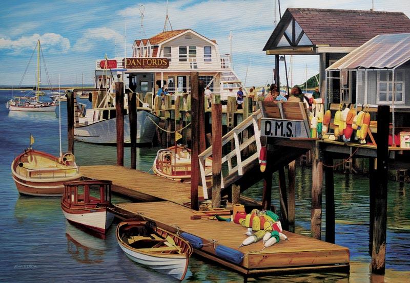 Summer Pier Boats Jigsaw Puzzle