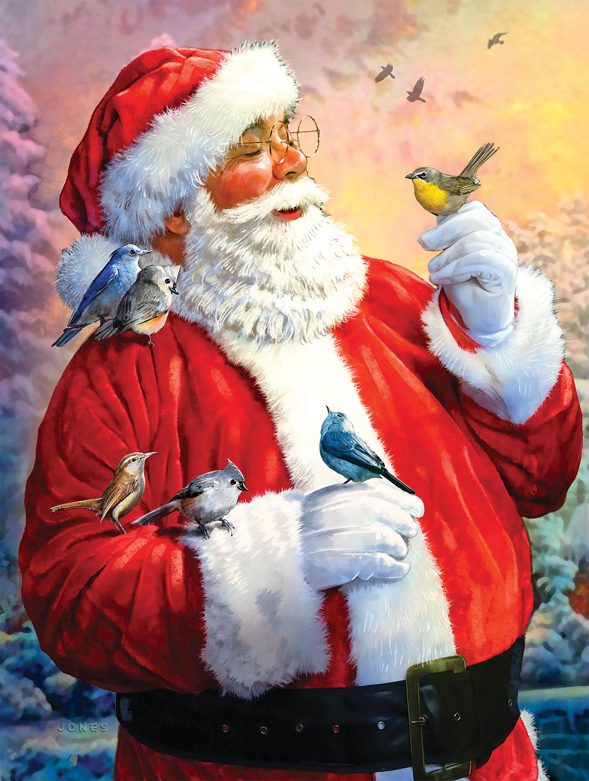 Santa's Morning Meeting Santa Jigsaw Puzzle